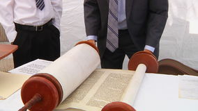 Hand of boy reading the Jewish Torah at Bar Mitzvah Torah reading 5 SEPTEMBER 2016. Hand of boy reading the Jewish Torah at Bar Mitzvah Bar Mitzvah Torah reading stock video