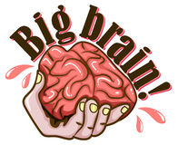 Hand and brain design Royalty Free Stock Image