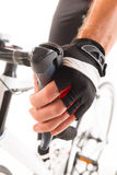 Hand on brake lever Stock Photography