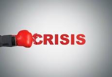 Hand breaking crisis Royalty Free Stock Photo
