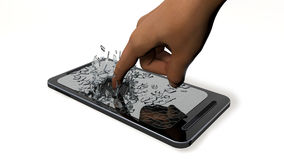 The hand breaks phone Royalty Free Stock Photos