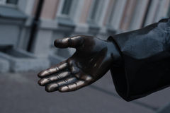 The hand of a bronze statue Royalty Free Stock Photo