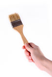 Hand with brush isolated Stock Image