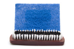 Hand Brush with Sponge Cloth Royalty Free Stock Photo
