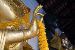 Hand of buddha. Making Ok Sign in Thailand royalty free stock images