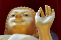 Hand of Buddha In Buddhist temple in Thailand Royalty Free Stock Photo