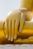 The hand of Buddha image statue Royalty Free Stock Image