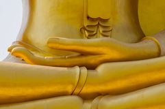 The hand of Buddha image statue Royalty Free Stock Images