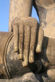 Hand of Buddha in life-size historical complex, Sukhothai Stock Photo