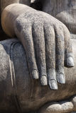 Hand of Buddha made of stone Royalty Free Stock Photo