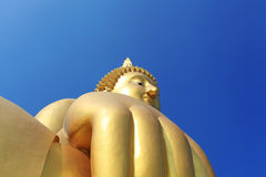 Hand of Buddha meditation statue Royalty Free Stock Image
