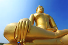 Hand of Buddha meditation statue Royalty Free Stock Photos