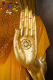 Hand of Buddha statue Royalty Free Stock Photos