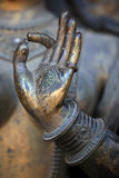 Hand of buddha statue Stock Photos
