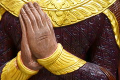 Hand of Buddha Statue. Chiang Mai, Thailand Stock Photos