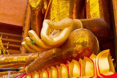 Hand of Buddha statue Stock Images