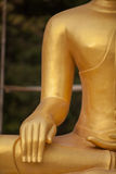 Hand of buddha statue. In thai temple Stock Photography