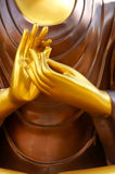 Hand of Buddha Statue. Thailand Stock Images