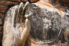 Hand of Buddha in of Sukhothai ancient city. Stock Photography