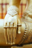 Hand of Buddha. In Thailand Temple Royalty Free Stock Photos