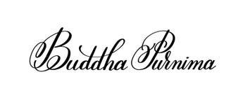 Hand Buddhas Purnima geschrieben, Aufschrift beschriftend zum indischen spri Stockfotos