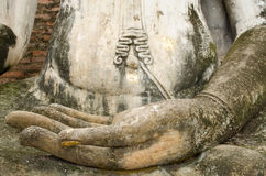 Hand of buddhism image. In Sukhothai historical park Stock Photography