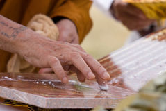 Hand of Buddhist monk Royalty Free Stock Photos