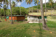 Hand-built farm buildings in the caribbean Stock Photography