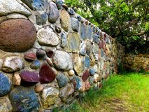 Hand built stone wall stock images