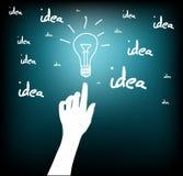 Hand_bulb_idea Photographie stock libre de droits
