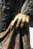 Hand on bullfighter statue royalty free stock images