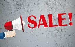 Hand Bullhorn Concrete Sale Stock Image