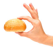 Hand with bun Stock Photos