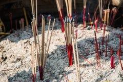 Hand burning incense Royalty Free Stock Photos