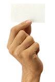 Hand and business card Royalty Free Stock Image