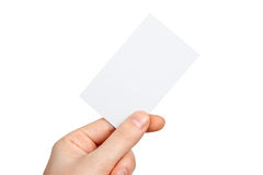 Hand & Business Card Royalty Free Stock Images