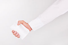 Hand with Business Card Royalty Free Stock Photo