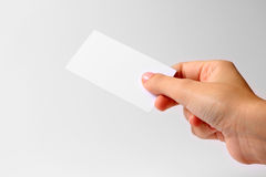 hand with business card royalty free stock photos