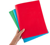 Hand with business document folders - isolated Royalty Free Stock Photography