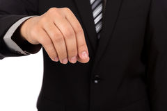 Hand of business man Stock Images