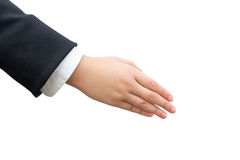 Hand of business man on background Royalty Free Stock Photo