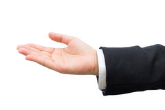 Hand of business man. Stock Photos