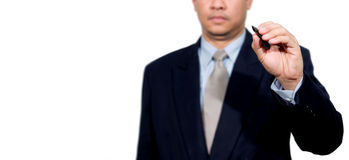 Hand of business man write Royalty Free Stock Image