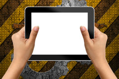 Hand of business woman holding digital tablet Royalty Free Stock Photo