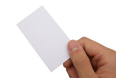 Hand and businesscard Stock Images
