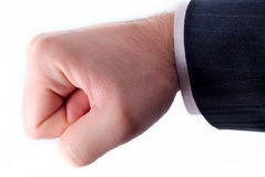 Hand of businessman. Against white Royalty Free Stock Images