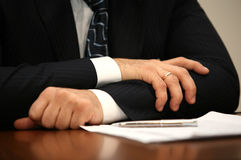 Hand of the businessman Stock Image