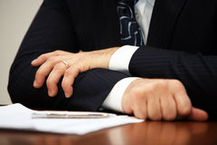 Hand of the businessman Stock Photo