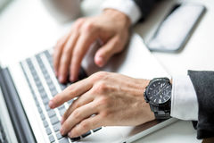 Hand of a businessman Royalty Free Stock Photo