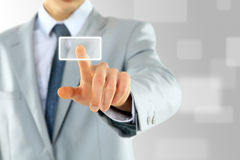 The hand of businessman on the flow Stock Photos